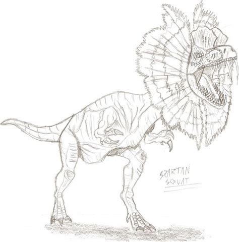 dilophosaurus dinosaur coloring pages homework