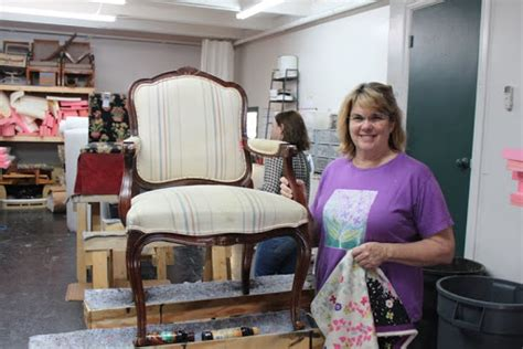 upholstery class austin spruce upholstery lshade and chair class