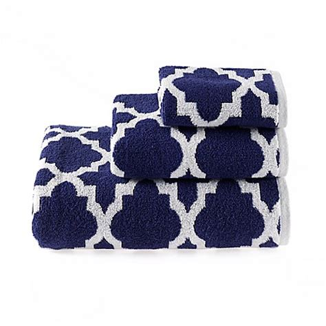 riviera bathrooms buy riviera jacquard bath towel in navy from bed bath beyond