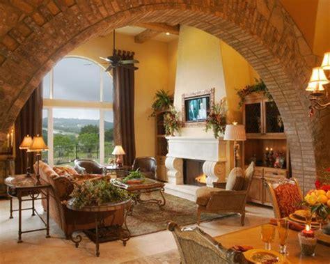 mediterranean living room decor arch living room houzz