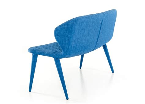 fabric dining bench modrest astoria blue fabric dining bench