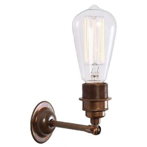 antique silver industrial style wall light with well glass shade antique brass vintage wall light for use with edison