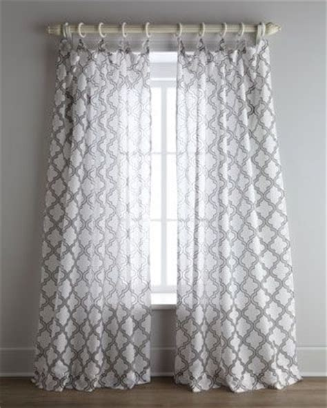 White Curtains With Gray Pattern White And Gray Curtains With A Moroccan Design Bedrooms Headboards And More Pinterest