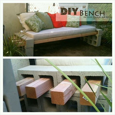 wood block bench a rad easy cinder block 4 quot x4 quot wood bench yard