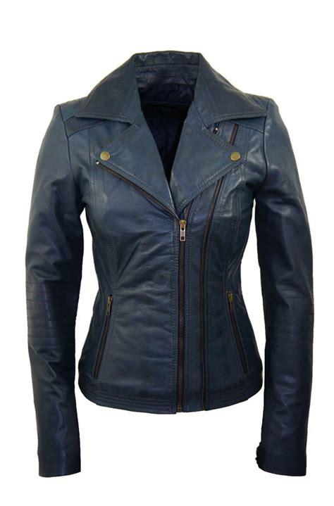 design leren jas leather palace blauw leren jasje dames