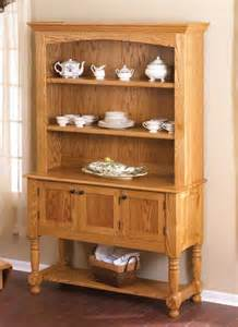 Wood Hutch Plans Classic Country Oak Hutch Woodworking Plan From Wood Magazine