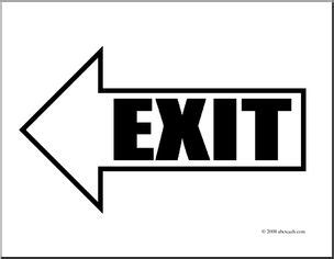 clip art arrow 01 exit left coloring page i abcteach
