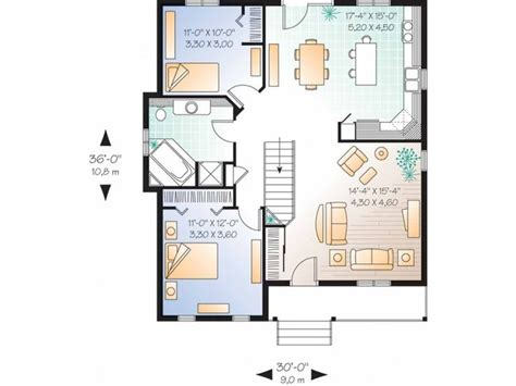 search floor plans simple single story 2 bedroom house plans search
