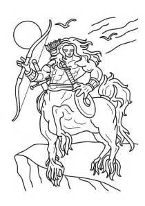 Dessin A Colorier De Gorgone La Creature Avec Des Cheveux Serpents L
