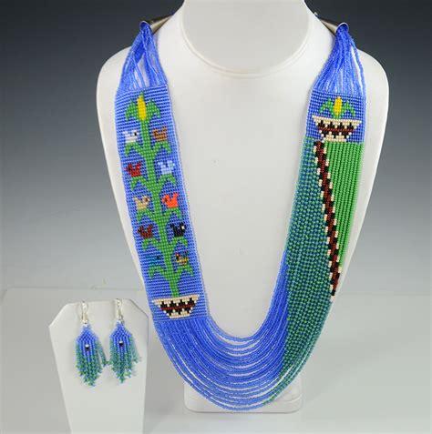 navajo beaded necklace navajo beaded necklace by rena charles hoel s indian shop