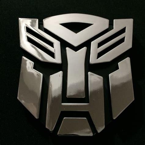 Emblem Transformers Autobots Transformer Autobot Chrome 2pcs 3d chrome emblem car transformer sticker autobot badge stickers vstic2501x2 aud 3 90