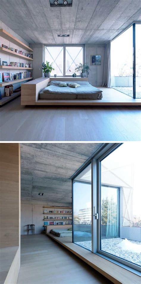 lit futon lit futon et lit plateforme pour chambre adulte contemporaine