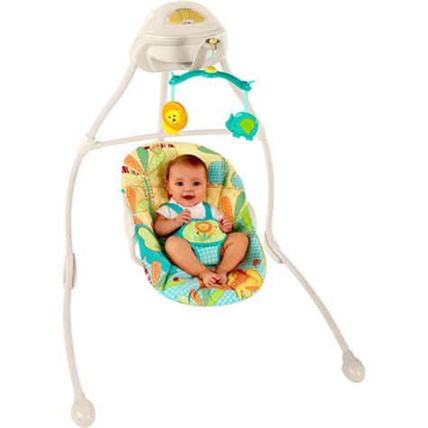 safari baby swing bright starts sunnyside safari plug in sway swing
