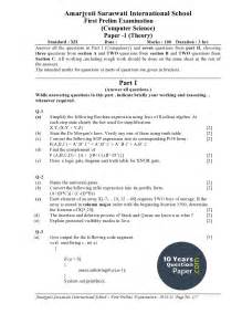 Computer Science Essays by Isc 2016 Computer Science Sle Question Paper Class 12 10 Years Question Paper