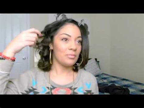how to get loose waves in african american hair curling short hair shoulder length hair youtube