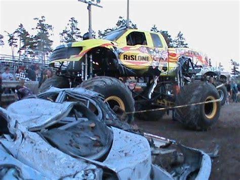 la county fair monster truck show monster truck show alpena county fair 2014 youtube