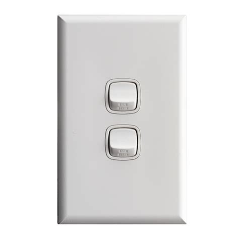 hpm excel 2 wall switch white bunnings warehouse