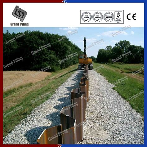 hot rolled sheet piling project nanjing grand steel piling co ltd