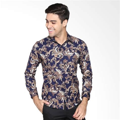 Batik Pria Slim Fit Batik Lengan Panjang jual parama batik opal slim fit batik pria lengan panjang
