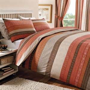 Orange Duvet Cover Uk Terracotta Mizar Collection Duvet Cover Set Dunelm