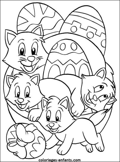 easter cats kittens coloring book books coloriage de p 226 ques 224 imprimer sur coloriages enfants