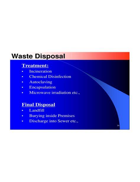 hospital waste management ppt free download