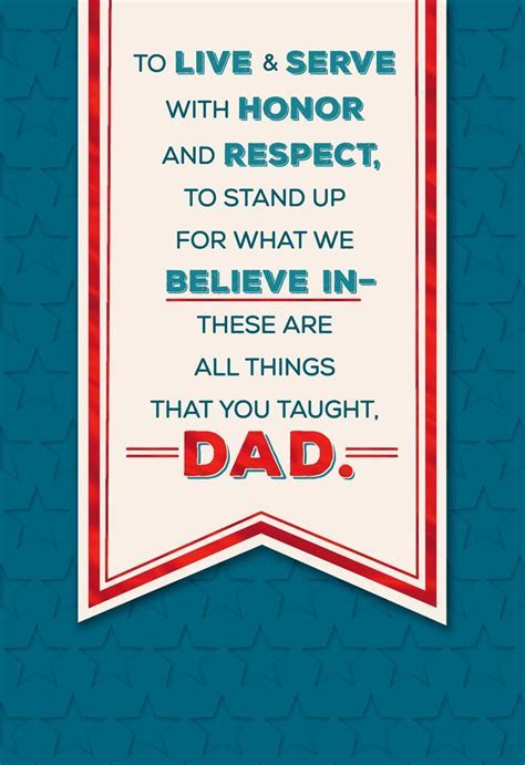 Dad, You're an Inspiration Father's Day Card   Greeting