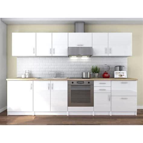 cuisine 駲uip馥 blanc laqu馥 obi cuisine compl 232 te l 3 m laqu 233 blanc achat vente