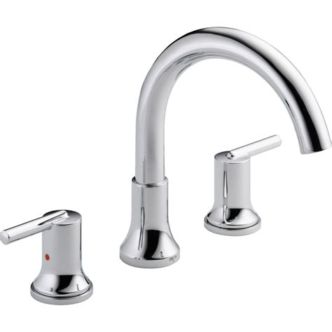 bathtub faucets delta faucet t2759 trinsic polished chrome two handle roman tub faucets efaucets com