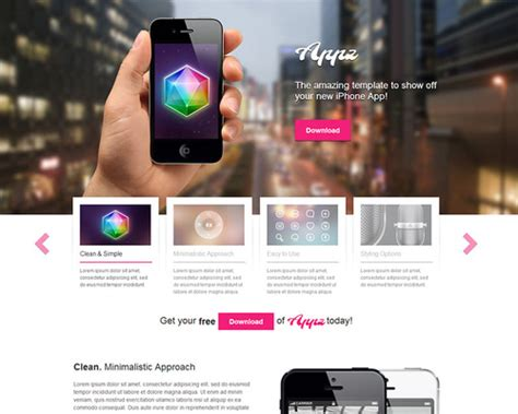 themes for iphone apps appz free iphone app wordpress theme themeshaker com