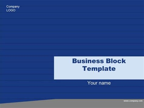 presentation magazine free powerpoint template free business block template