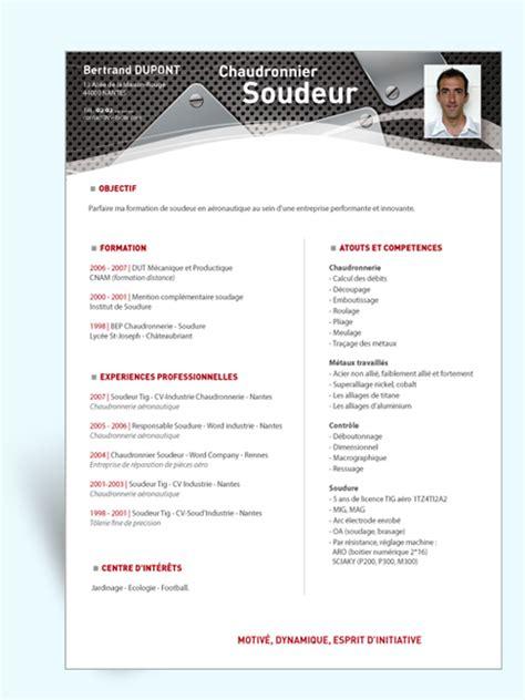 Lettre De Motivation De Soudeur Modele Cv Chaudronnier Cv Anonyme