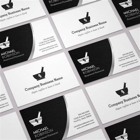 pharmacy business card template pharmacy pharmacist logo modern black silver business