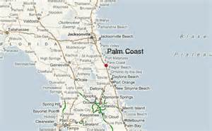 Palm Coast Florida Map by Palm Coast Location Guide