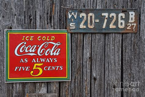 Coca Cola Duvet Cover Coca Cola Always Five Cents Photograph By Mary Machare