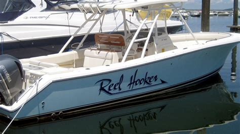 boat lettering cape cod design install of custom boat lettering on cape cod