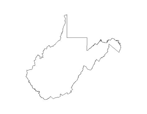 West Virginia State Outline Vector by Wv Outline Pictures To Pin On Pinsdaddy