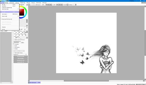 paint tool sai russian pack правильно сохраняем рисунок в paint tool sai инструкция
