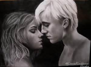 hermione and draco drawing laurakordikova 169 2017 jan 2