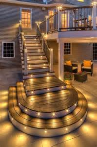 outdoor deck lighting 15 cool deck stepping lighting ideas to light up the