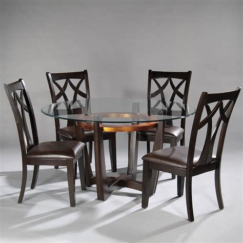bassett dining room set bassett mirror elation 5 dining room set w wood back chairs beyond stores