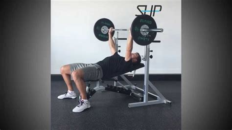 low incline bench press low incline barbell bench press youtube