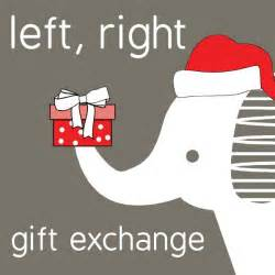 left right gift exchange use the poem quot twas the night