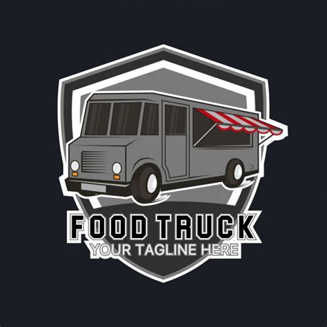 food truck logo template vector free download