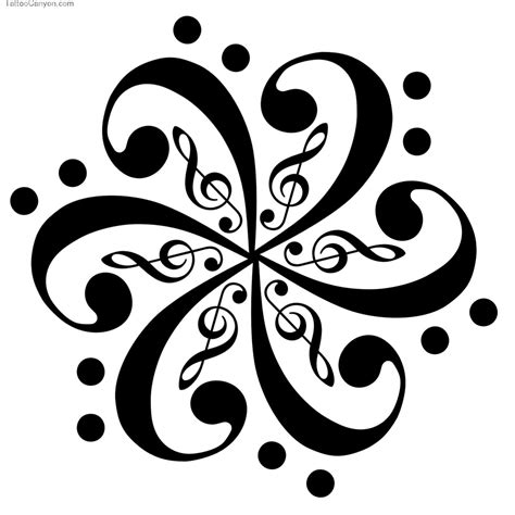 tribal music note tattoo notes symbol pictures clipart best