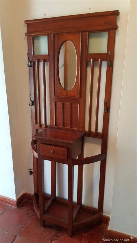 muebles auxiliares de entrada perchero antiguo mueble de entrada con espejo