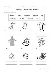what color are you wearing what are you wearing today worksheet free esl