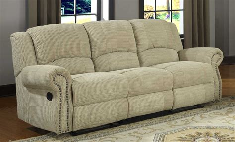 chenille reclining sofa homelegance quinn double reclining sofa olive beige