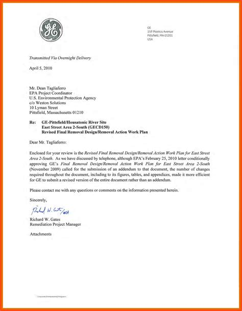 Business Letter Format Exle With Attachment Sle Business Letter Attachment Program Format