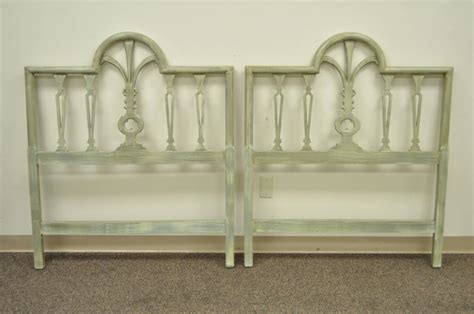 wood headboards for sale pair of prince of wales plume feather carved wood single bed headboards for sale at 1stdibs